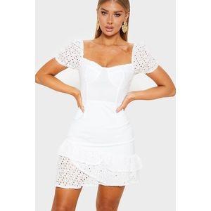 PrettyLittleThing White Dress 8 & 10